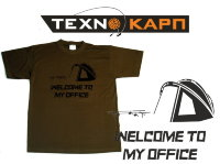 Футболка TexnoCarp Welcome To My Office Цвет:Темный Хаки