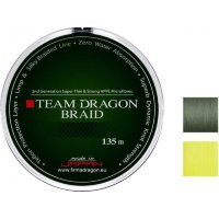 Шнур Team Dragon Braid 135m 0.10mm 7.90kg gray/green