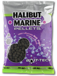 Пеллетс Bait-tech Halibut Marine Pre-Drilled Pellets 12.0mm 900g