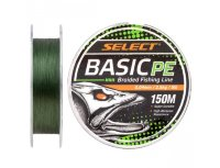 Шнур Select Basic PE 150m  0.16mm 18LB/8.3kg (темн-зел.)