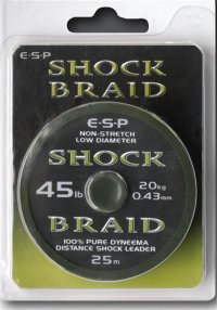 Шок лидер ESP Shock Braid 45lb 25m
