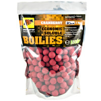 Пылящие бойлы CC Baits Economic Soluble Cranberry 20мм 1кг