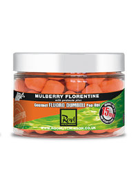 Бойлы Rod Hutchinson Mulberry Florentine Fluoro Dumbell Pop Ups 12mm 60g