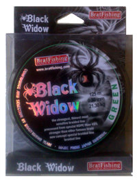 Шнур Bratfishing Black Widow 125m 0,23mm 21,30 kg