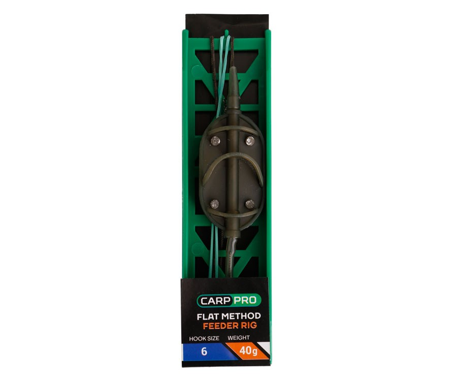 "Готовая Оснастка на ледкоре Carp Pro ""Flat Method Feeder"" №6 50г"
