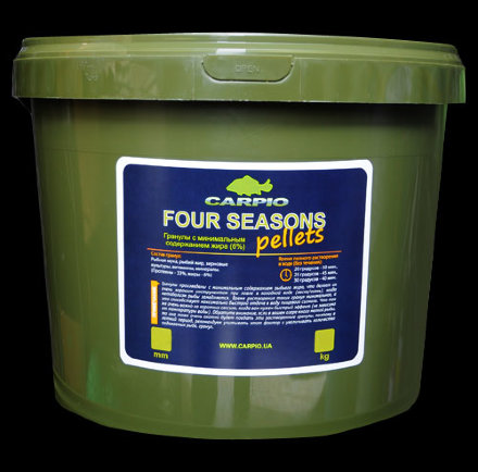Пеллетс Carpio Four Seasons Pellets 6 мм 7 кг