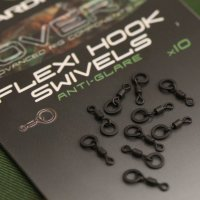Вертлюг с кольцом Gardner Covert Flexi Hook Swivel