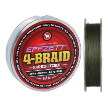 Шнур DAM Effzett 4-braid 125m moss green