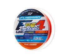 Шнур Flagman PE Hybrid F4 135m Fluo Orange 0.12mm