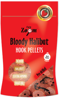Насадочный пеллетс Carp Zoom Strawberry Halibut Hook Pellets, 8 mm, 150g