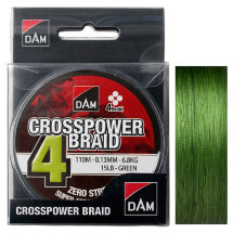 Шнур DAM CrossPower 4-braid 110m green