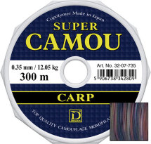 Волосінь Dragon Super Camou Carp 300m 0.25mm 6.75kg