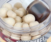 Бойлы Dynamite Baits Source White Fluro Pop Ups And Dumbells 10mm