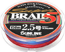 Шнур Sunline Super Braid 5 150m # 3.0 /0.27мм 17kg