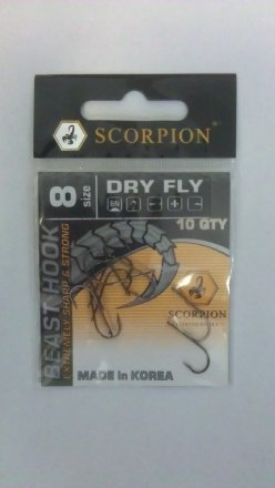 Крючки Bratfishing Scorpion Dry Fly-R, Black Nickel # 12