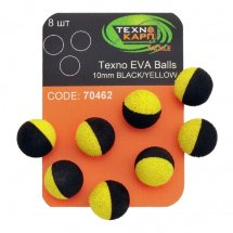 Насадка Texno Eva Balls 10 mm, black/yellow, 8 ps