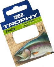 Готовиe повідці Zebco №12 Trophy Hooks to Nylon Trout 0,17mm 70см (10шт)