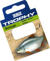 Готовиe повідці Zebco №18 Trophy Hooks to Nylon Roach 0,10mm 70см (10шт)