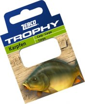Готовиe повідці Zebco №6 Trophy Hooks to Nylon Carp 0,28mm 70см (10шт)
