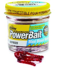 Мотыль Berkley Powerbait Blood Worms EBPMWB Большой - 100 шт