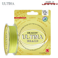 Шнур Dragon Ultima 125m 0.08mm 5.85kg Fluo Yellow