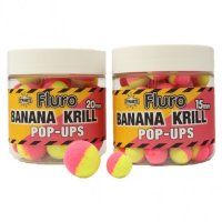 Бойлы Dynamite Baits Krill & Banana 15mm Fluro Two Tone Pop-Ups