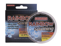 Леска Bratfishing Rainbow Spinning 100 m 0,34 mm 12,85 kg
